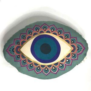Evil Eye Throw Pillow Boho Art Natural Life